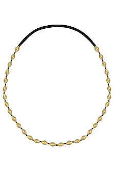 Gold Plated Single Strand Dholki Beads Necklace by Ahilya Jewels
