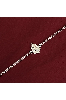Silver Adjustable Chain Ganesha Rakhi by Ahilya Jewels