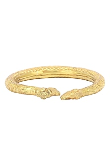 Gold Plated Elephant Motif Bangle by Ahilya Jewels