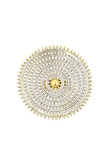 Dual Finish Rawa Work Ring by Ahilya Jewels