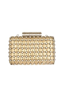 Golden Embroidered Clutch by Ash Amaira