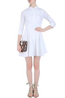 White Olivia Shirt Dress by Ankita
