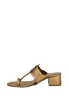 Copper Handcrafted Box Heels by Aprajita Toor