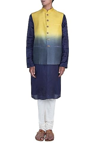 Yellow & Grey Shaded Jacket by Anju Agarwal