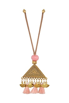 Peach Textured Triangular Lumba by Anjali Jain
