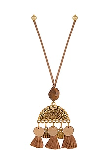 Beige Textured Semi-Circular Lumba by Anjali Jain