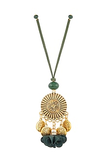 Green Textured Circular Lumba by Anjali Jain