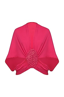 Pink Moon Embellished Shrug by Anuj Sharma