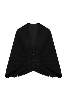 Black Moon Embellished Shrug by Anuj Sharma