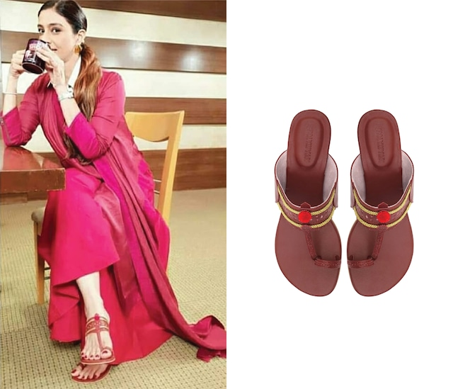 Maroon Classic Kolhapuri Sandals by Aprajita Toor