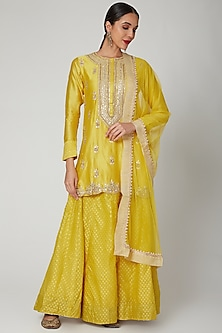 Yellow Embroidered Lehenga Set by Aksh-POPULAR PRODUCTS AT STORE