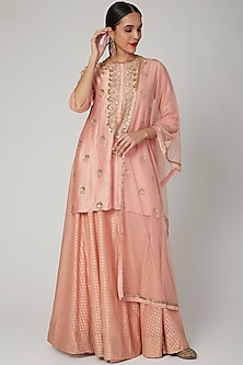 Blush Pink Embroidered Lehenga Set by Aksh-POPULAR PRODUCTS AT STORE