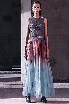 Mint & Coral Gathered Skirt by Akhl-AKHL