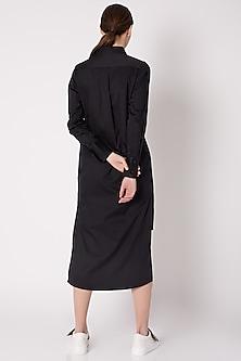 Black Tux Shirt Dress by ALIGNE