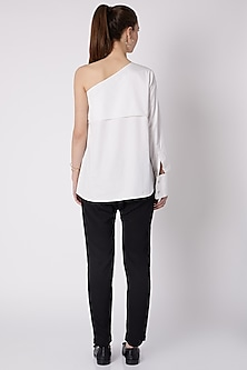White One Shoulder Top by ALIGNE