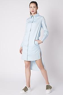 Powder Blue Tux Dress by ALIGNE