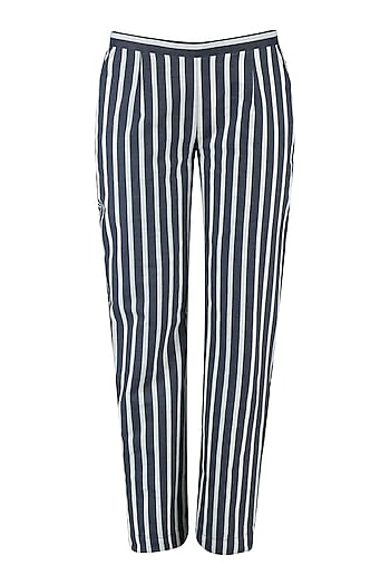 Blue and White Striped Pants by Aaylixir