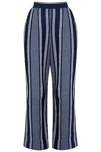 Indigo Blue Striped Pants by Aaylixir
