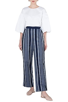Indigo Blue Striped Pants by Aaylixir