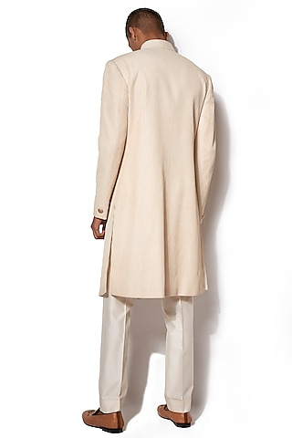 Ivory Pintuck Jacket With Pants by Amaare