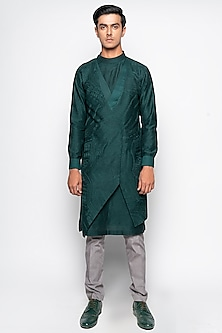 Forest Green Hydra Kurta Set by Amaare-AMAARE