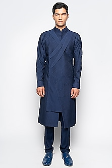 Navy Blue Eris Kurta Set by Amaare