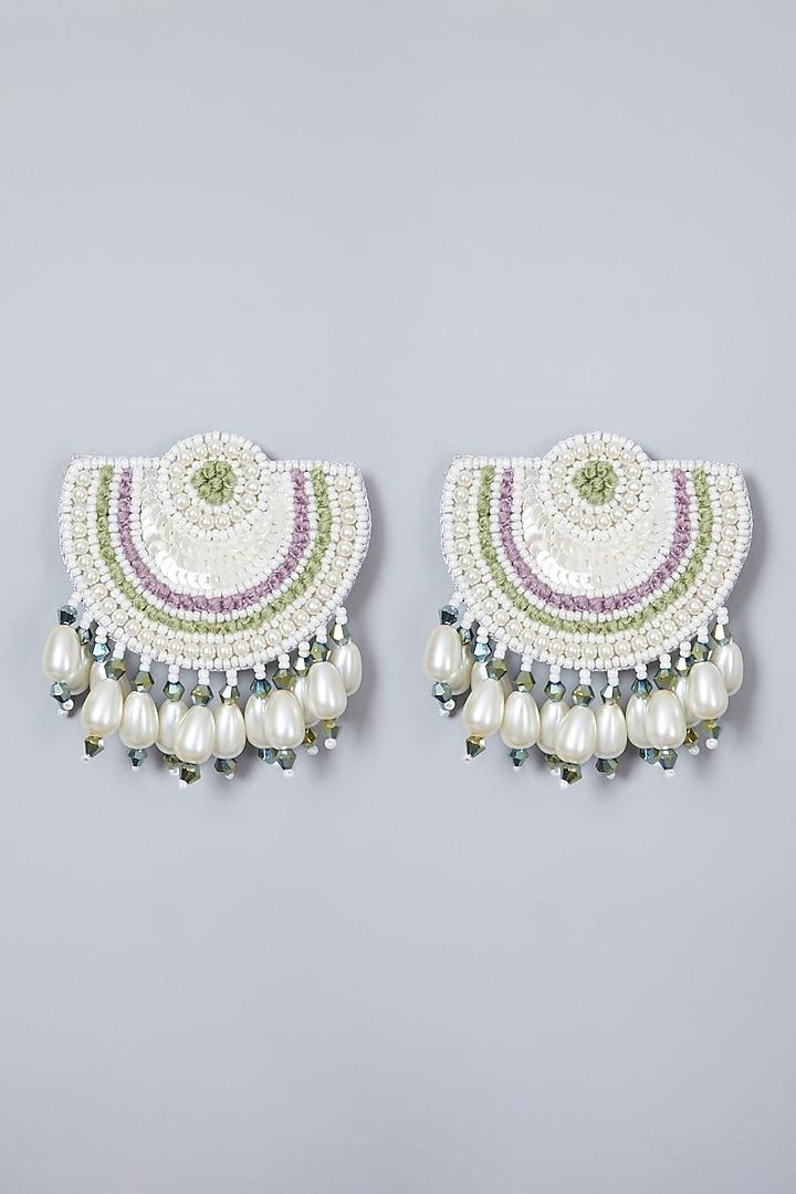 Multi Colored Long Earrings by AMAMA