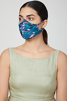 Cobalt Blue Breathable Mask by AMIT GT