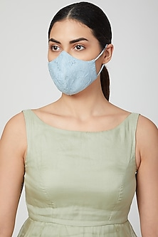 Sky Blue Breathable Mask by AMIT GT