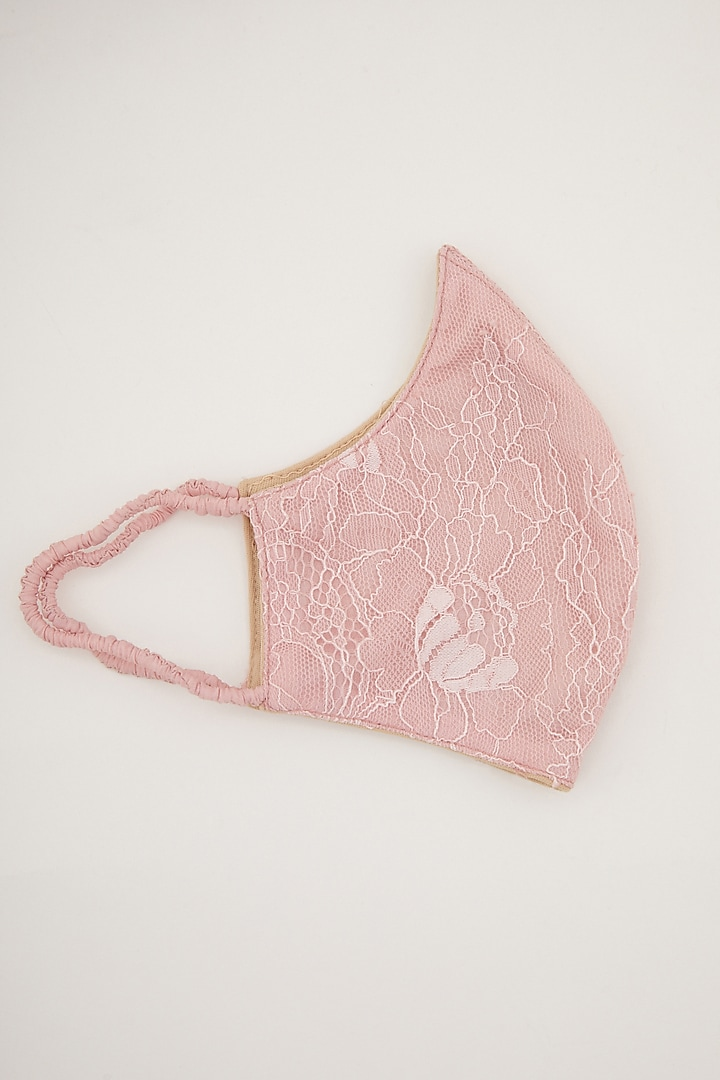 Blush Pink Printed Mask by Amit GT