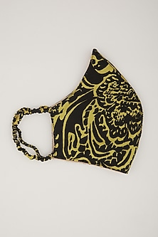 Black & Gold Animal Printed Mask by Amit GT-POPULAR PRODUCTS AT STORE