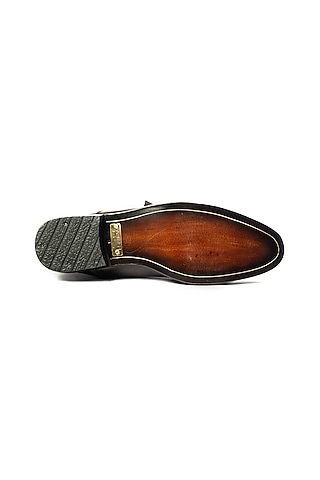 Brown & Tan Handcrafted Shoes by ARTIMEN