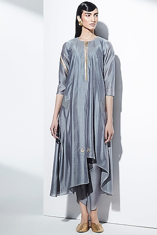 Grey Embroidered Tunic Set by AMPM