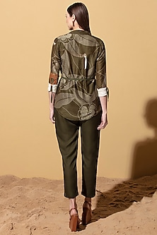 Olive Green Throw-Over With Bodysuit by AM:PM