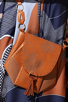 Tan Leather Bag by AM:PM