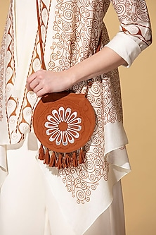 Tan Suede Bag by AM:PM