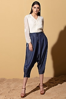 Denim Blue Lounge Pants by AM:PM
