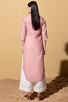 Onion Pink Tunic With Ivory Palazzo Pants by AM:PM