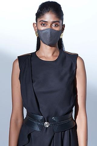 Dark Grey Printed Mask by AMPM