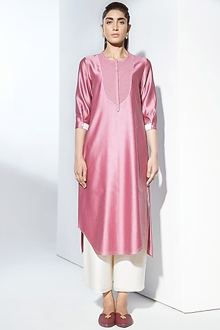 Pink Embroidered Tunic by AMPM