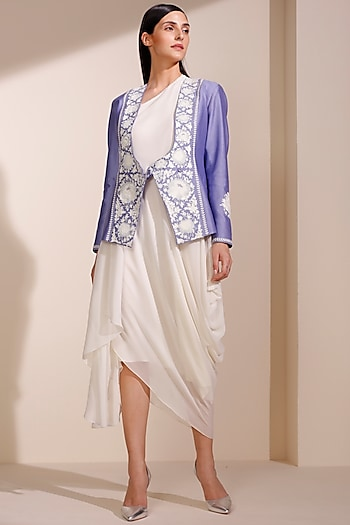 Dark Lavender Jacket With Inner by AM:PM