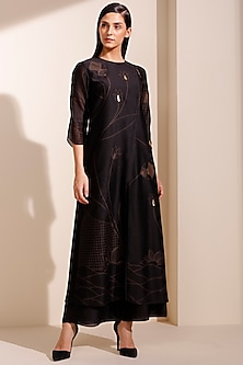 Black Jacket Kurta With Pants by AM:PM