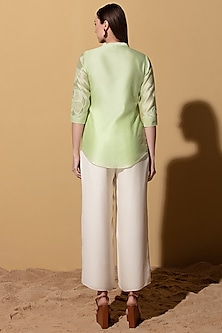 Mint Green Asymmetric Top by AM:PM