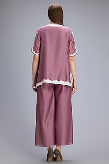 Dusty Lilac Asymmetric Shirt With Inner by AM:PM
