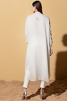 Grey Embellished Tunic WIth Dhoti by AM:PM