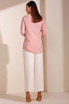 Light Pink Georgette Shirt by AM:PM