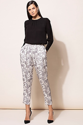 Black Digital Printed Shirt With Pants by AM:PM