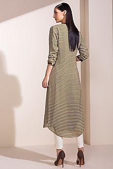 Olive Green Digital Printed Tunic by AM:PM