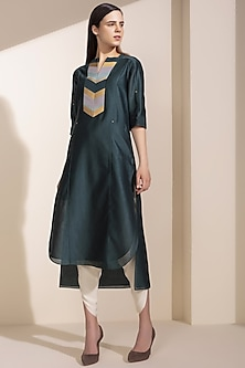 Forest Green Embroidered Tunic Set by AM:PM