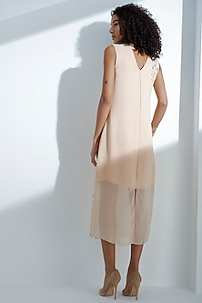 Pink Sleeveless Georgette Dress by AM:PM